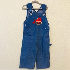 Vintage Carter's overalls striped boys 4t USA